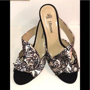 • NEW • Black & White Satin Heels